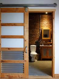 Industrial Style Bathroom Vanities by Retro Industrial Style Bathroom With Natural Brick Wall Combine