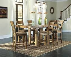 counter height dining table butterfly leaf counter high table and chairs vintage casual 7 piece counter height