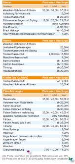 Hochsteckfrisurenen Preise by Missimo Der Friseursalon In Der Therme Preisübersicht