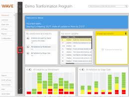 create a template dashboard wave success center by mckinsey