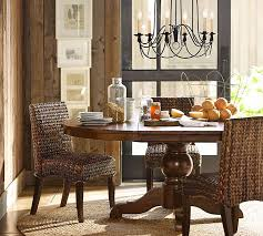 Sumner Extending Pedestal Table  Seagrass Chair Piece Dining - Pottery barn dining room chairs