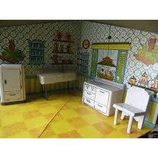 dollhouse furniture kitchen vintage kage dollhouse kitchen furniture set from