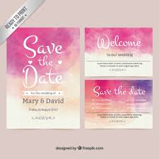 Marriage Invitation Card Design Watercolor Wedding Invitation Vector Free Download