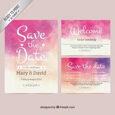 wedding invites templates watercolor wedding invitation vector free