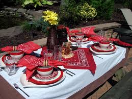 western themed table centerpieces a perfect setting little bit country