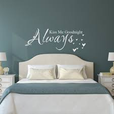 compare prices on wall quote stickers bedroom online shopping buy love quote vinyl wall decal sticker always kiss me goodnight bedroom decor china