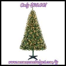 holiday time pre lit 6 5 u2032 pine green artificial christmas