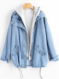 Light Denim Jacket Button Up Denim Jacket And Hooded Vest Light Blue Jackets U0026 Coats