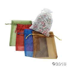 mesh gift bags sheer drawstring treat bags