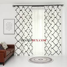 Moroccan Style Curtains Lined White Moroccan Style Curtains Shades With Sheer Buy White
