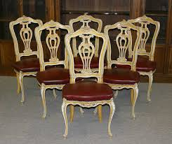 Tall Back Chairs by Of Six Venetian Louis Xv Style Tall Back Dining Chairs