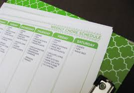 weekly chore chart template free download home organization