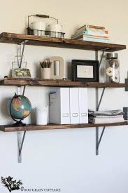 diy office shelving the wood grain cottage