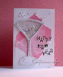 card for new year craft a new year s greeting card or invitation shaker card craft