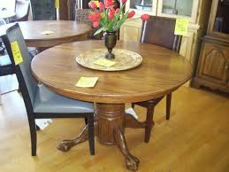 Oak Dining Room Table Sets Round Oak Table With Leaf Starrkingschool