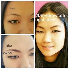 Eyebrow Tattoo Before And After What Is 3d Eyebrow Embroidery Kaila Yu