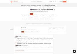 12 alternatives to autonomous sit to stand smartdesk 3 product hunt