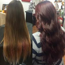 cut before dye hair my before after merlot color and 3 inches cut off rebrn com