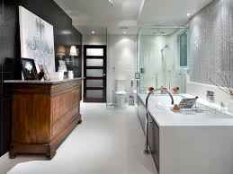 designs of bathrooms black and white bathroom designs hgtv