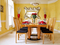 Yellow Upholstered Chairs Design Ideas Dining Room Lovable Accent Wall Designs For Casual Dining Room
