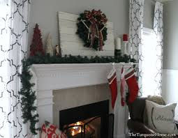 traditional red u0026 green christmas mantel the turquoise home