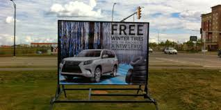 lexus calgary winter tires portable frame signs the right tool for advertising