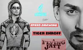 tiger shroff a flying jat drawing artwork youtube