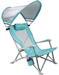 amazon com quik shade folding beach chair striped navy blue