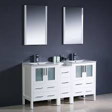 18 Inch Bathroom Vanities by Shop Fresca Bari White Undermount Double Sink Bathroom Vanity With