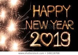 Happy New Year 2019 Written Sparkle Stock Photo Edit Now 249118708