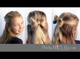 hair bow with hair hair bow hairstyle tutorial