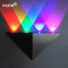led wall mounted bedside lights sxzm 4w led wall light bedside lights ac85 265v triangle corridor