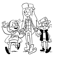 gravity falls coloring pages