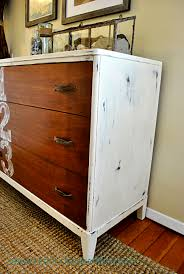 Chest Of Drawers With Wicker Drawers Furniture Mesmerizing Distressed Dresser For Home Furniture Ideas