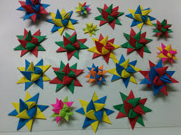 Origami Christmas Themed Pointed Origami Stars ã U201a Star Origami