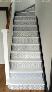 Painted Stairs Design Ideas Best 25 Stenciled Stairs Ideas On Pinterest Painted Steps