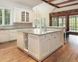 Custom Kitchen Island Designs - white kitchen island with granite top