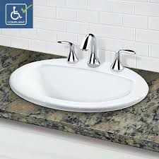 oval drop in sink decolav 1436 8 cwh drop in oval vitreous china bathroom sink