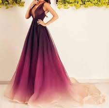 ombre dress ombre crimson to organza v neck sleeveless prom dress