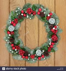 and advent wreath decoration with and silver bauble
