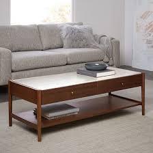 Coffee Table With Storage Robbins Mid Century Storage Coffee Table West Elm