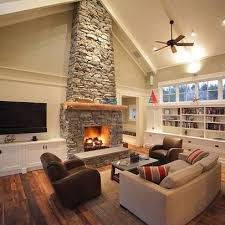 Vaulted Great Room Bedroom And Living Room Image Collections - Family room lighting ideas