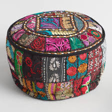 World Market Outdoor Pillows by Black Suti Pouf World Market