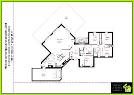 plan de maison plain pied 4 chambres beautiful plan maison moderne plain pied photos amazing house