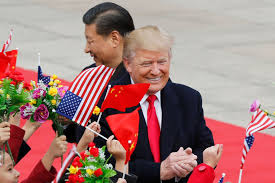 What Are The Two Flags In The Oval Office Donald Trump Showed On His Asia Trip He Wants America To Be Like