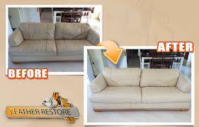 Leather Sofa Color Restoration by Leather Cleaning Ireland All Surface Respray