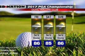 Tennessee Weather Map by Pga Championship 2017 Weather Forecast Times Of Showers And