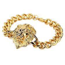 aliexpress buy nyuk new fashion american style gold nyuk new men s cool rock lion bracelet cool fashion hip hop