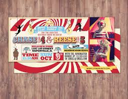 birthday circus ticket carnival ticket invitation vintage