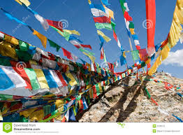 Flags In Tibetan Prayer Flags In Lhasa Stock Image Image 3239573